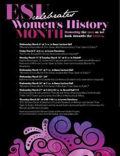 Clarissa Gibson, Poster for Women's History Month.