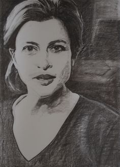 study of Alexa in charcoal