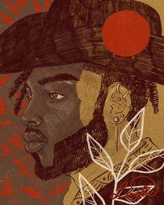 Black Girl Art, Black Girl Magic, Black Art, Art Girl, Casual Art, Illustration Art, Illustrations, African American Art, Drawing Challenge
