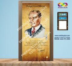Atatürk kapı giydirme www.renklikapilar.com 0352 222 6 555 #okulkapıgiydirme #kapıgiydirme #sınıfkapıgiydirme #eğitim #kapıkaplama #merdivengiydirme #anaokulkapısı #ilkokulkapısı  #wckapısı #atatürkköşesi #sınıfisimliği 65 TL