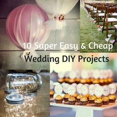DIY weddings are all the rage these days, but when it comes down to it, they can end up being more work than necessary. Check out these 10 ideas that are actually cheap & easy to do! Diy Projects Cans, Diy Wedding Projects, Easy Diy Projects, Rage, Infographics, Things To Come, Make It Yourself, Weddings, Table Decorations