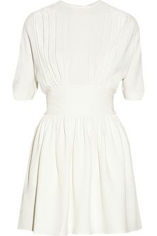 Miu Miu Split-back pleated crepe dress | NET-A-PORTER