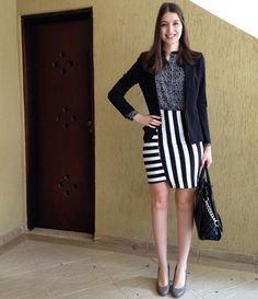 @lookbyus look trabalho work outfit style fashion  pencil skirt saia lápis…