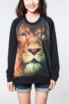 Lion Sweater Aslan Narnia Animal Movie Black T-Shirt Women Tee Long Sleeve Unisex Shirts Tshirts Sweatshirt Size M L on Etsy, $26.99