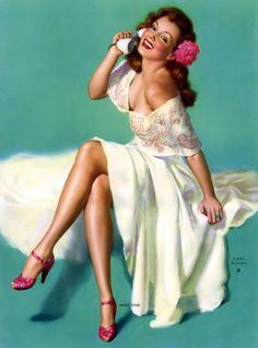 """Earl Moran - """"Next Time"""" - Earl Moran painted this beautiful Marilyn Monroe painting between 1948 & 1950."""