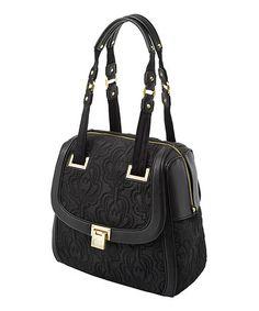 Look what I found on #zulily! Onyx Bauhaus Bowler Shoulder Bag #zulilyfinds