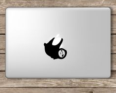 Cute Sloth Hanging from Apple Apple MacBook Laptop Vinyl Sticker Decal | eBay