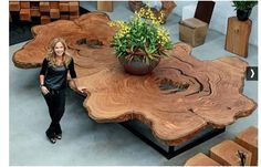 These are mind-blowing pieces, but what makes them more so is that all materials used by Tora Brasil are from managed forest areas in Brazil. Even further, Tora Brasil. Handmade Wood Furniture, Log Furniture, Unique Furniture, Furniture Ideas, Luxury Furniture, Handmade Wooden, Furniture Stores, Redoing Furniture, Natural Wood Furniture