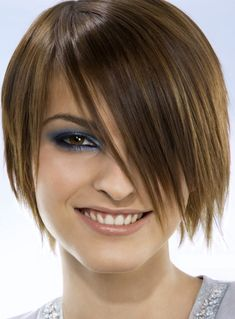 Short Straight Asymmetrical Hairstyles 2017-2018