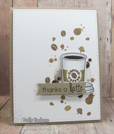 YNS Supplies: Thanks a Latte Stamp & Die set | Coffee Rings stamp set | Love Me Some Latte Gumdrops | Stitched Rectangle dies