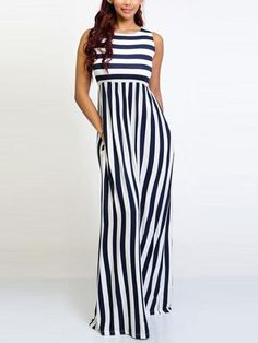 The stripe sleeveless wide leg jumpsuit with round neck is so elegant and casual and it suits many casual occasion summer. jumpsuit casual,jumpsuit outfit work,how to wear jumpsuit,casual jumpsuit outfit fall Jumpsuit Outfit, Casual Jumpsuit, Summer Jumpsuit, Elegant Jumpsuit, Sequin Jumpsuit, White Jumpsuit, Long Jumpsuits, Jumpsuits For Women, Fashion Jumpsuits