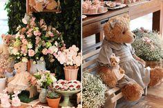 O aniversáriode 1 ano da Bia foi comemorado commuito charme e encanto! O tema escolhido foi jardim das ursas! A Fabiana Moura foi a responsável pela deco
