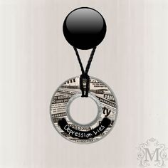 Depression Lies Resin Coated Washer Necklace by MazerCreations, $10.00