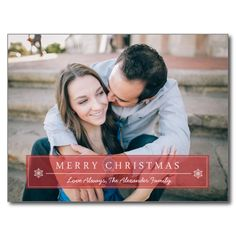 Shop Classic Red Merry Christmas Holiday Postcard created by origamiprints. Custom Christmas Cards, Christmas Photo Cards, Christmas Greeting Cards, Christmas Photos, Christmas Greetings, Baptism Thank You Cards, Photo Thank You Cards, Merry Christmas Love, Red Christmas