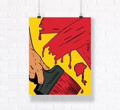 Customizable Comic Book Wall Art Vector Illustration