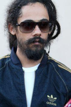 Damian Marley, son of famous reggae musician Bob Marley .