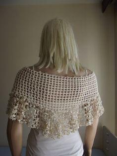Crochet Shawl (no pattern) Good for weddings!