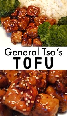 Make the perfect vegan takeout at home with this general tso tofu recipe. It's sure to be one of your go to vegan dinner recipes! Asian Tofu Recipes, Tasty Vegetarian Recipes, Vegan Dinner Recipes, Vegan Dinners, Vegan Recipes Easy, Cooking Recipes, General Tao Chicken, General Tso Tofu, General Tso Sauce