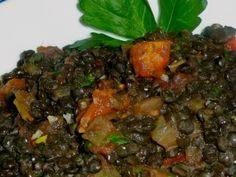 Garam Masala Daal - black beluga lentils, water, olive oil, red onion, garam masala, turmeric, ground cinnamon, red pepper flakes, bay leaf, fresh ginger, garlic cloves, fresh lemon juice, tomatoes, salt & pepper, fresh parsley