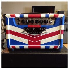 Jackson Ampworks Britain Guitar Amp wrapped in the Union Jack.
