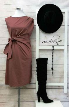 Das Minikleid ist seitlich zu binden im wunderschönem altrosa passend für Büro, Party oder einen besonderen Anlass. Overall Jumpsuit, One Shoulder, Shoulder Dress, Longsleeve, Girls, Formal Dresses, Tops, Party, Black