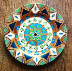Hand Painted Mandala Plate by tindink on Etsy, $45.00