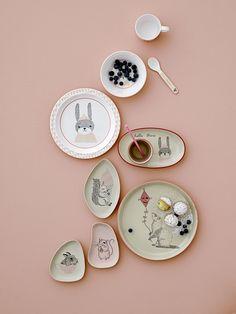 8 Inch Petit Jour Paris Baby Plates Melamine Various Designs Large Assortment