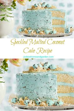 Speckled Malted Coconut Cake Recipe - perfect for Easter parties, brunch and dinner! Easter Brunch, Easter Party, Easter Egg Cake, Easter Food, Easter Cupcakes, Easter Baking Ideas, Easter Gift, Holiday Desserts, Holiday Treats