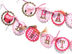 Items similar to Owl Girl Themed Happy Birthday Party Banner Pinks and Browns - Woodland on Etsy Owl Party Decorations, Happy Birthday Parties, Shower Ideas, Banner, Party Ideas, Baby Shower, Unique Jewelry, Handmade Gifts, Etsy