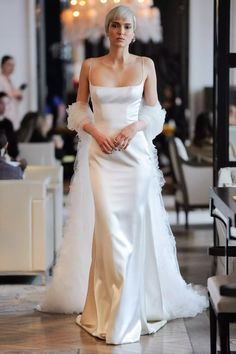 2020 Wedding Dresses – Modern Wedding Dress – Ines Di Santo Bridal Gown – 2020 Bridal Gown – Single Strap Sheath Gown Source by funpartyplans dress modern Bridal Fashion Week, Mannequins, Dress Collection, Bridal Collection, Couture Collection, Bridal Style, Bridal Dresses, Edgy Wedding Dresses, Traditional Wedding Dresses