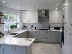 Broadoak Painted - Kitchens By Dexter kitchen - kitchen diners - Kitchen Room Design, Modern Kitchen Design, Home Decor Kitchen, Interior Design Kitchen, Home Kitchens, Modern Country Kitchens, Grey Kitchens, Country Farmhouse, Farmhouse Decor