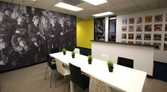 Conference room decor idea - office wall mural created by Jonathan Fong Style Inc. in Santa Monica California