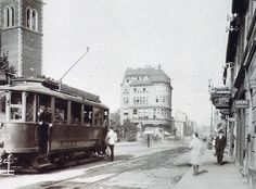 Czech Republic - Tramway in Trnovany (Turn) - Part of Teplice (Teplitz) - Year 1929 Rotterdam, Czech Republic, Old Photos, Retro Vintage, Past, Street View, Europe, City, Photographs