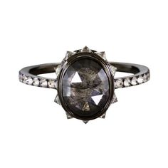 If traditional white diamond solitaires aren't your thing, indulge your dark side with these edgy black diamond engagement rings. Diamond Solitaire Rings, Diamond Bands, Diamond Jewelry, Diamond Cuts, Diamond Gemstone, Diamond Earrings, Black Gold Jewelry, Black Rings, Gold Rings