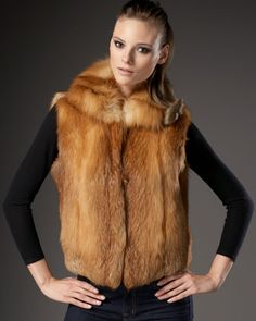 Sofia Cashmere  Fox Fur Vest  $2495.00