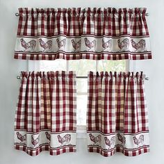 Rooster Kitchen Curtains | Park B. Smith Provencal Rooster Tier Kitchen Curtains