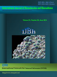 International Journal of Biomolecules and Biomedicine (IJBB) is a peer-reviewed journal that publishes original research articles as well as review articles in the areas of biomedicine, applied biomedicine, pharmacology, oncology, toxicology, biomedical science, chemotherapy, biogenic substances and their biological functions, structures, interactions with other molecules, plant pathology, animal pathology, microbiology, biochemistry, biotechnology, genetic engineering.