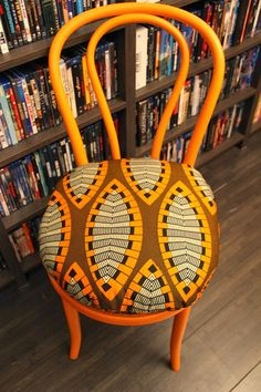 chair with african print cushion from nothing but the wax