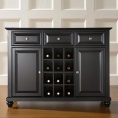 Thinking of redoing an old dresser into a buffet with a wine rack for the dinning room.