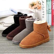 Brand 2018 NEW bow-knot girls boots Australia Children boots boys children  snow boots winter ea3c4e6009ab