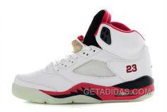 2c0ddaadff60 Air Jordan 5 Glow In The Dark White Fire Red Black Vente En Ligne