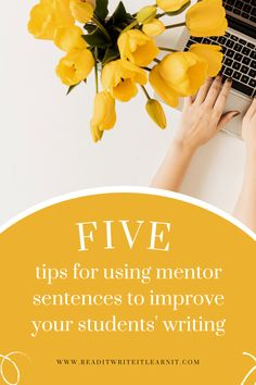 Help your middle and high school ELA students to improve their writing using mentor sentences. This post includes tips for choosing and using mentor sentences in your classroom, including ways to save prep time! Check it out! Make Money Blogging, Way To Make Money, Make Money Online, Mentor Sentences, Pinterest For Business, Blogging For Beginners, Pinterest Marketing, Marketing Digital, How To Start A Blog