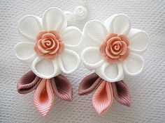 Handmade Kanzashi girls toddler baby hair by MARIASFLOWERPOWER, £3.20