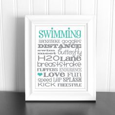 Swimming Subway Art Google Search With Images Swim Team Gifts Swim Gifts Swimming Awards