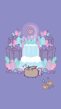 Crystal moon pusheenYou can find Pusheen and more on our website. Wallpaper Free, Cat Wallpaper, Kawaii Wallpaper, Cute Wallpaper Backgrounds, Wallpaper Iphone Cute, Unicorns Wallpaper, Trendy Wallpaper, Cute Kawaii Drawings, Kawaii Doodles