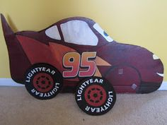 """Because I Said So (and Other Mommyisms): DIY Pit Stop Game for """"Cars"""" Party"""