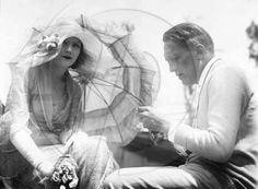 "Greta Garbo on the set of ""Love"" (1927)"