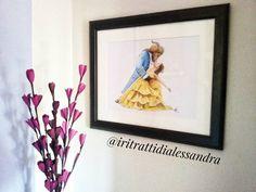 """Incorniciato è tutta un'altra cosa 😍💛 . . Disponibile la stampa a colori de """" La Bella e la Bestia """" 🌹💛 Per informazioni non esitate a contattarmi ✉✏ @beautyandthebeast @emmawatson @thatdanstevens . . #belle #beautyandthebeast2017 #beautyandthebeast #emmawatson #hermione #labellaelabestia #draw #pencilcolor #prismacolor #portrait #draws #creative #illustration #gallery #artsy #sketch #art #ritratti #creation #love #romantic #beautyandthebeastdrawing #passion #danstevens #disney…"""