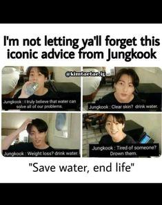 Bts Memes Hilarious, Bts Funny Videos, Funny Facts, Kookie Bts, Bts Taehyung, Jungkook Songs, Jimin, Bts Theory, Bts Boys