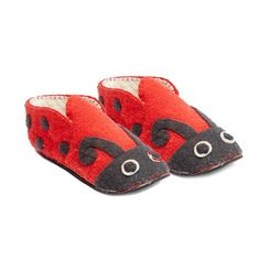 Ladybug Slippers Adult Small - Fair Trade - #shopfairtrade #fairtrade #thisbluesea #felt #booties #women #Apparel #boots #shoes #felted #men #slippers #footwear  These adult slippers are stitched into amazing animals; making for a one-of-a-kind unique slipper. The soles are 100% rubber, and the uppers are 100% sheep's wool. Small size fits Women's 5-6  Meet the Artisans  The Silk Road Bazaar Silk Road Bazaar is a wholesale representative of marginalized artist groups located in Kyrgyzstan…